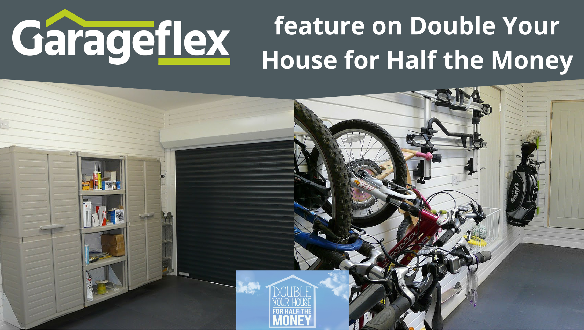 Garageflex feature on Double Your House for Half the Money