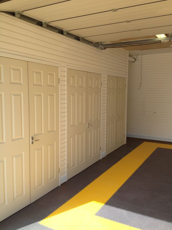 Cover over metres and pipework with a Garageflex Design & Install Makeover