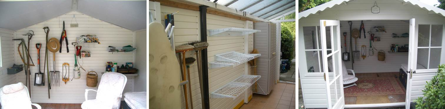 Garageflex is not just for the garage, try it in your shed, summer house or utility room too