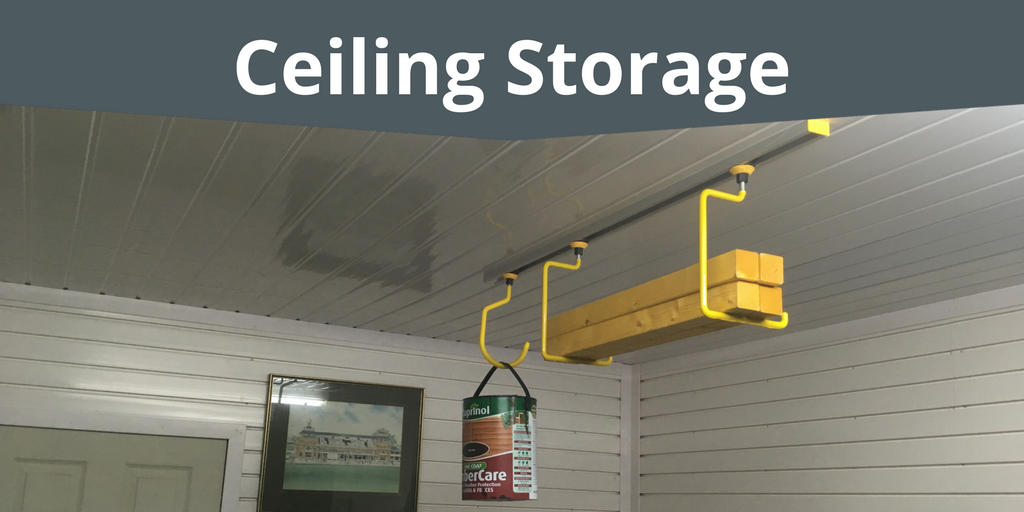 Ceiling Storage for storing items in your garage