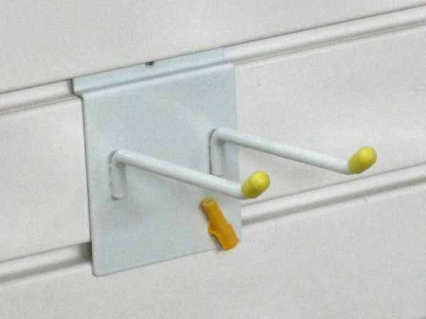 Garage Wall Storage: Single or Double Hooks for the garage can store a variety of tools
