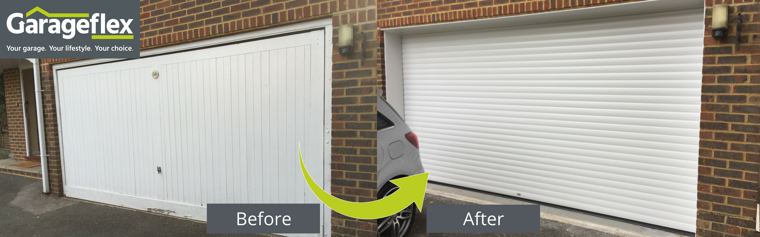 Garage Doors Before and After 2016