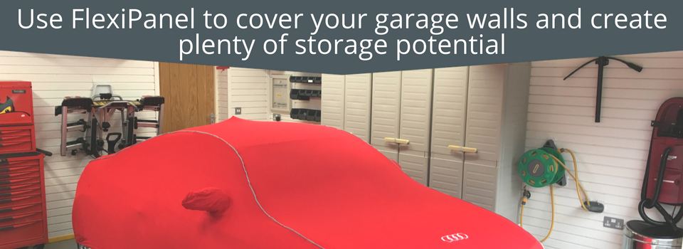 Garage Wall Storage: Use FlexiPanel to cover your garage walls