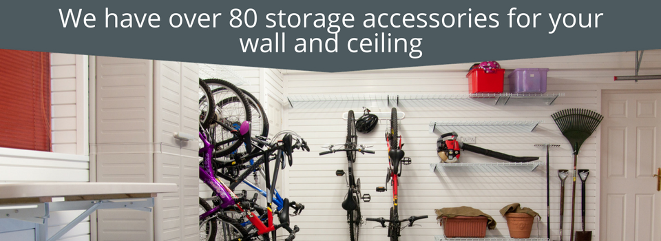 Complete Garage Makeover - we offer over 80 storage accessories