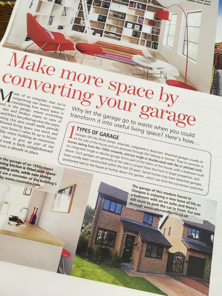 Garageflex feature in Your Home Magazine article on Garage Conversions