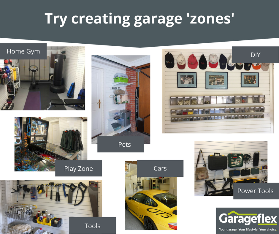 Create a specific garage zones by Garageflex