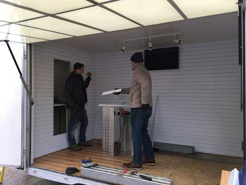 Garagelex Trailer gets fitted out by fitters