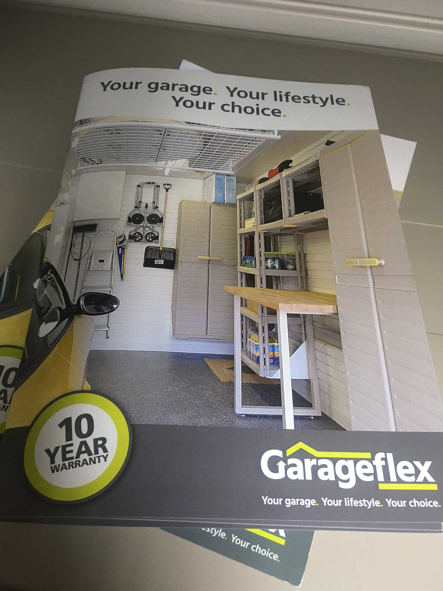 Garageflex New Brochure Front Cover for a Beautifully Fitted Garage