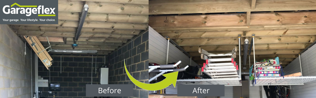 Ceiling Storage before and after