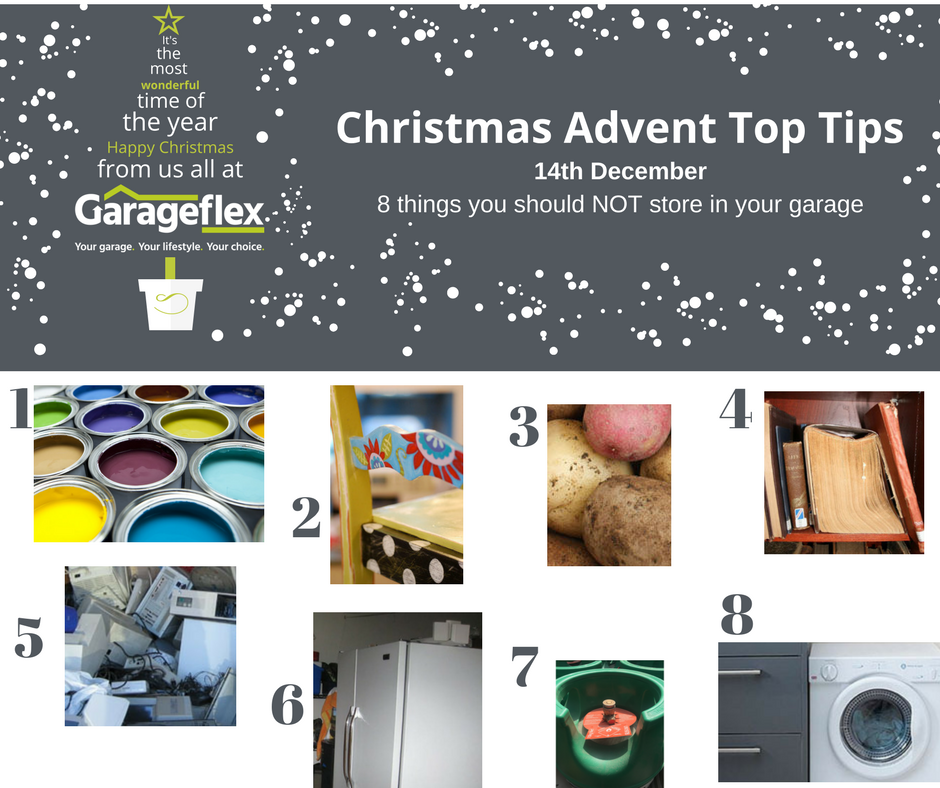 Garageflex Top Tips 14th December - 8 things you should not store in your garage
