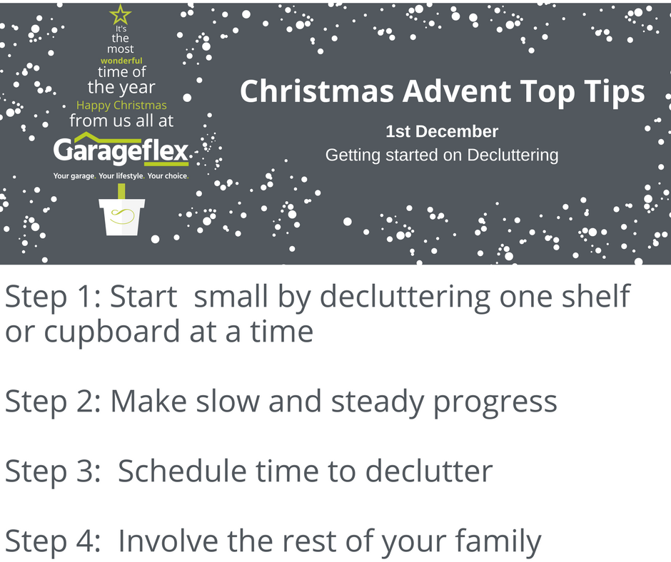 Christmas Advent Top Tips 1st December Decluttering your Garage