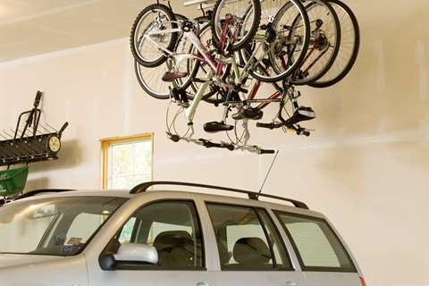 Bike storage made easy garageflex bike rack ceiling