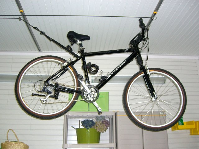Bike Storage made easy garageflex bike rack celing hoist