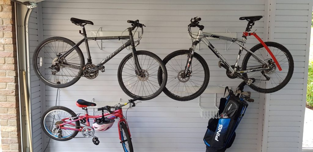 Bike storage made easy garageflex horizontal bike rack